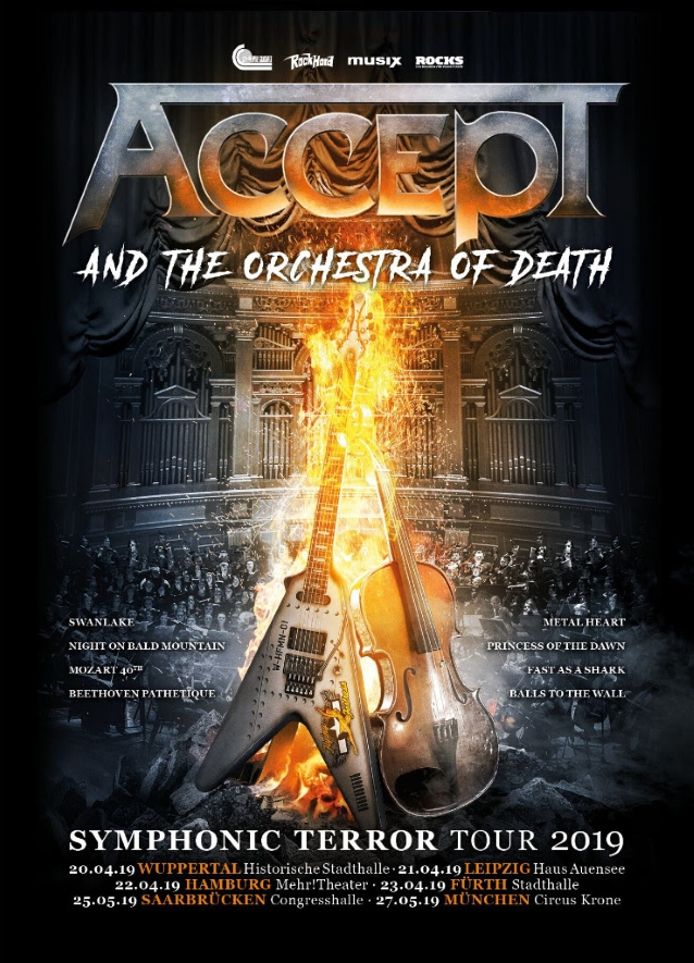 Accept Announces First 2019 'symphonic Terror' Shows With Orchestra