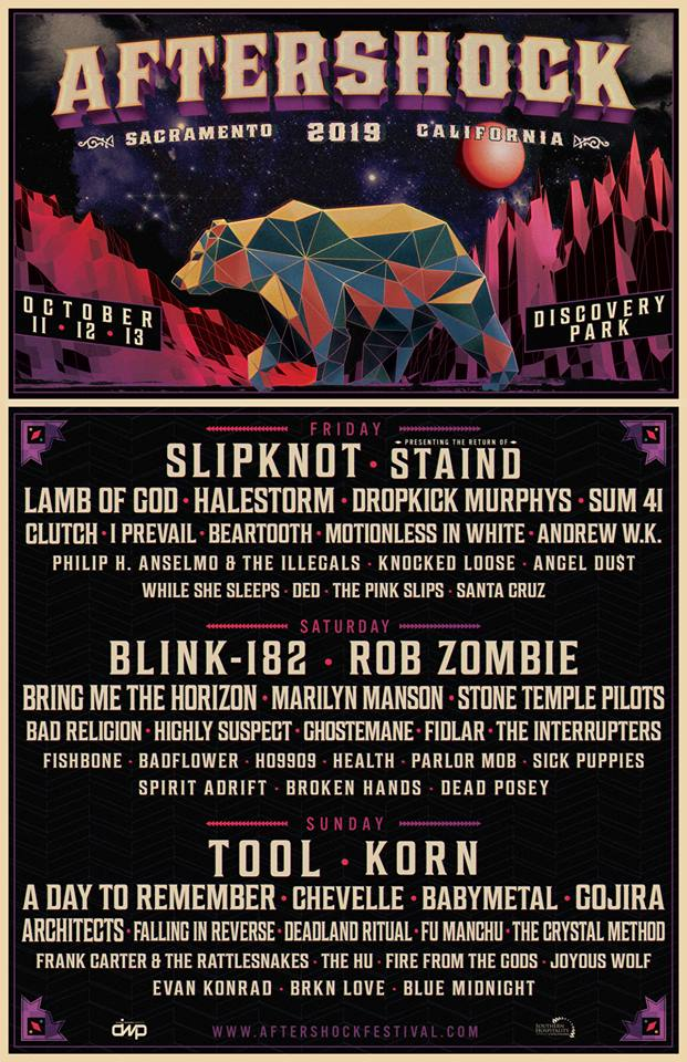 SLIPKNOT, TOOL, STAIND, KORN, ROB ZOMBIE, Others Set For AFTERSHOCK Festival