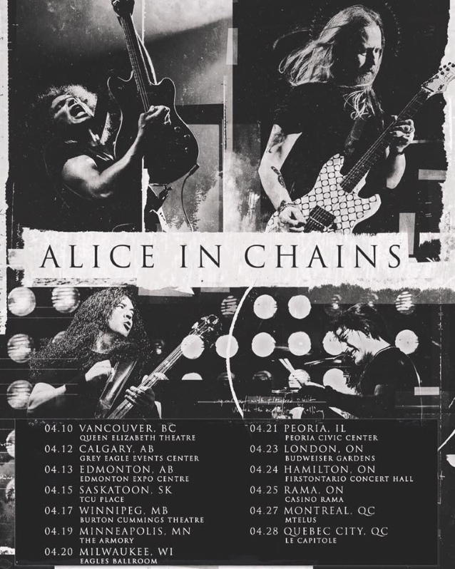 Alice In Chains Announces April 2019 U S Canadian Tour Dates
