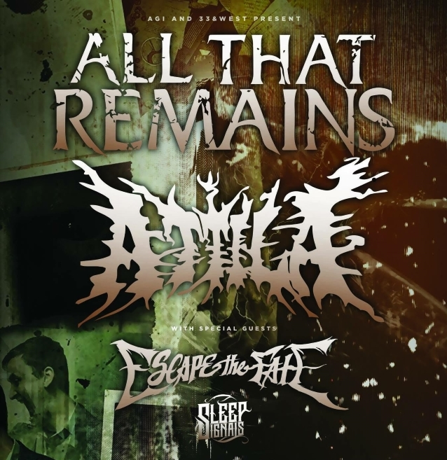 ALL THAT REMAINS And ATTILA Announce Winter/Spring 2019 Co-Headline U.S. Tour
