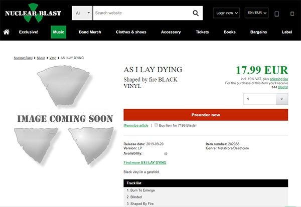 AS I LAY DYING To Release 'Shaped By Fire' Album In September
