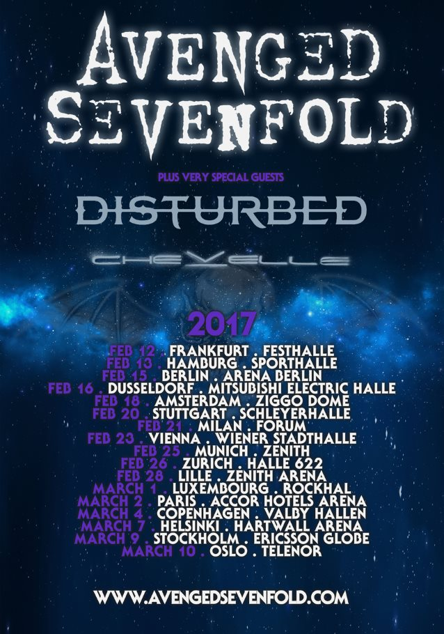 Avenged Sevenfold Tour  Europe