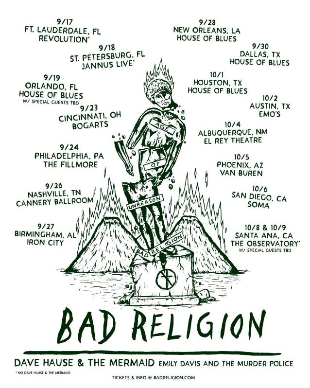 BAD RELIGION Announces Fall 2019 U.S. Tour