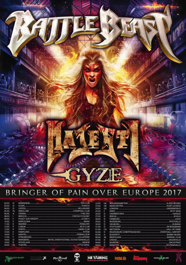 battlebeastmarch2017eurotourposter