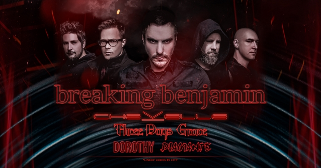 BREAKING BENJAMIN Announces North American Tour With CHEVELLE, THREE DAYS GRACE; BLABBERMOUTH.NET Presale Available