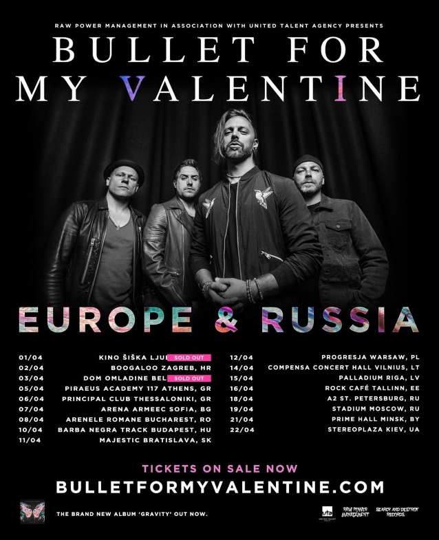 BULLET FOR MY VALENTINE: Video Of Entire Moscow Concert