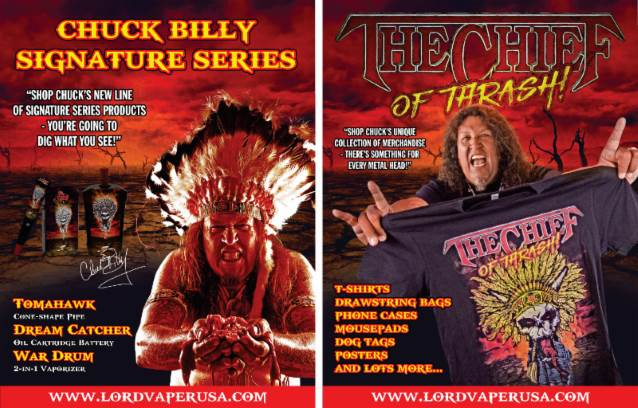 TESTAMENT Vocalist CHUCK BILLY Expands 'The Chief' Signature Vaporizer Line With New Products
