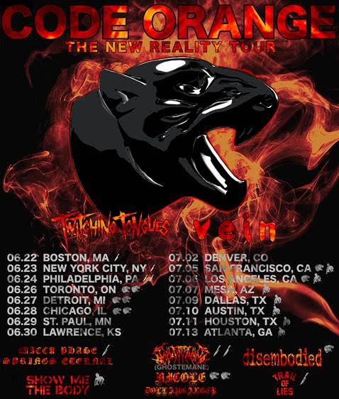 CODE ORANGE Announces 'The New Reality Tour'
