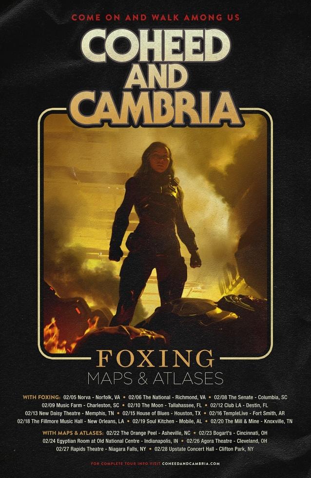 COHEED AND CAMBRIA Announces February 2019 U.S. Tour