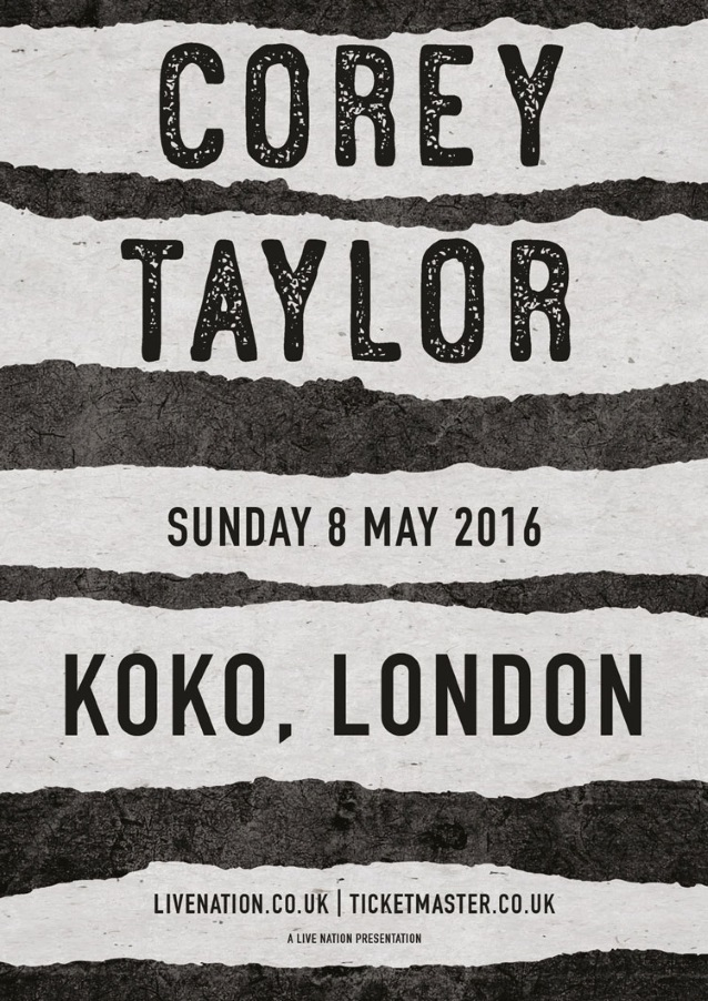 COREY TAYLOR: Part One Of Question-And-Answer Session From 'Live In London' (Video)