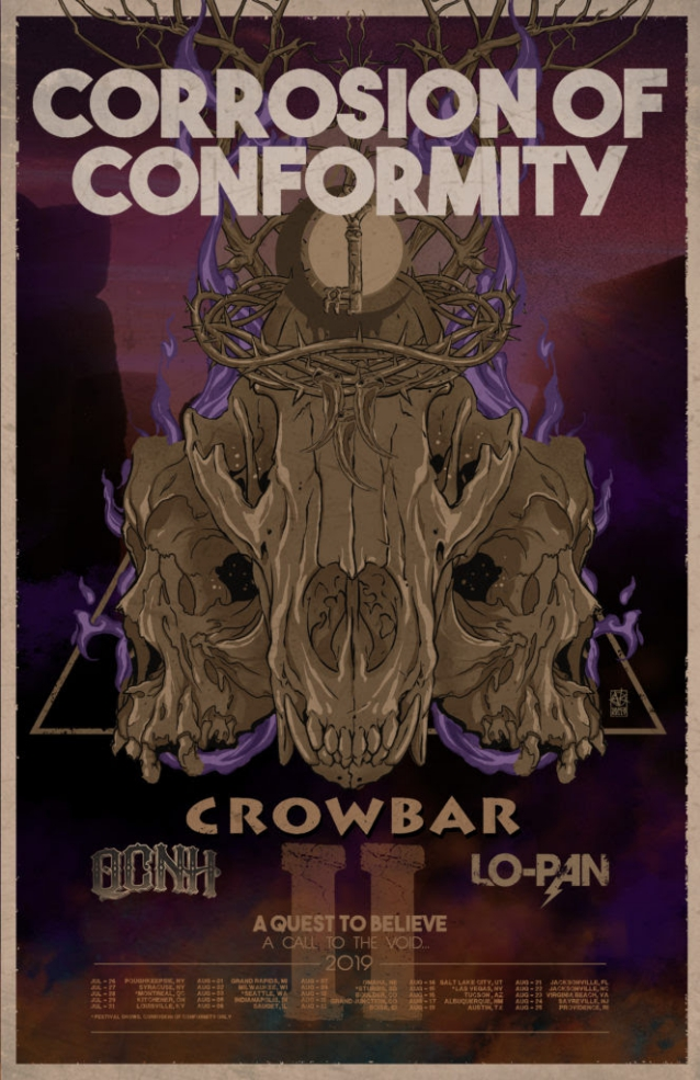 CORROSION OF CONFORMITY Announces Summer 2019 U.S. Tour With CROWBAR
