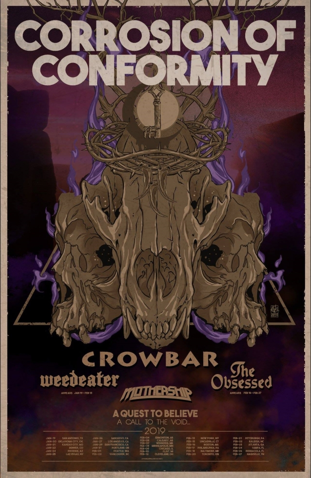 Corrosion Of Conformity, Crowbar And Mothership To Team Up For North American Tour