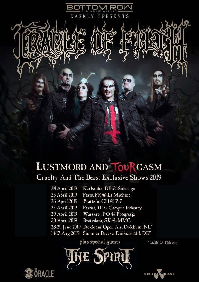 CRADLE OF FILTH  - Cryptoriana : The Seductiveness Of Decay (22 Septembre) - Page 2 Cradleoffilthcrueltyshowsaprilaug2019