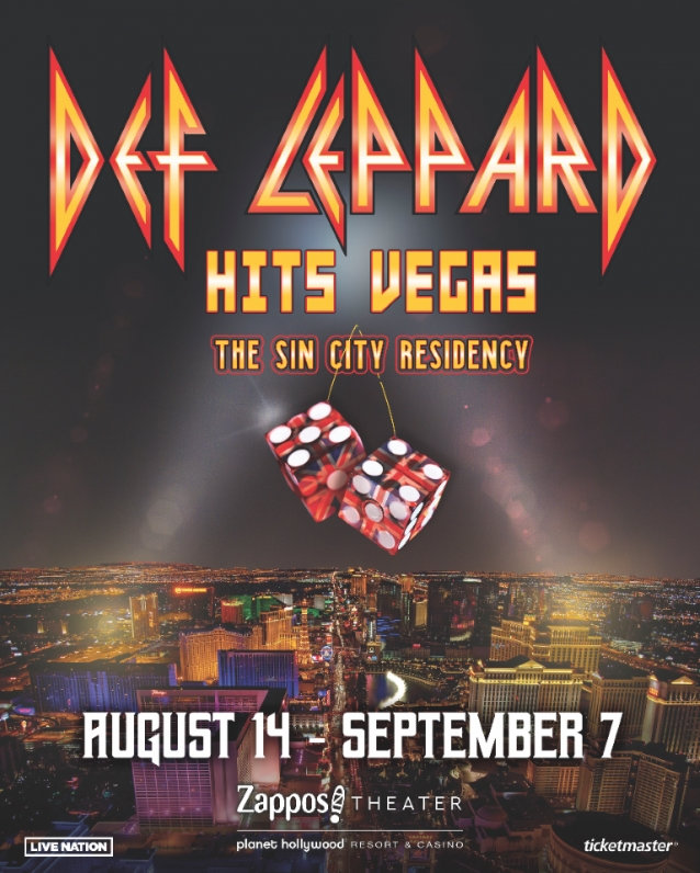 DEF LEPPARD Singer On Upcoming Las Vegas Residency: 'We Know What We're Getting Ourselves Into'