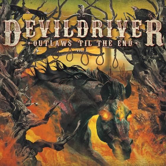 DEVILDRIVER - Outlaws 'Til The End (reprises country - 6 juillet 2018) Devildriveroutlawscover