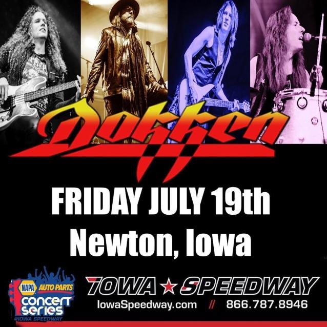 Watch DOKKEN Perform At Iowa Speedway