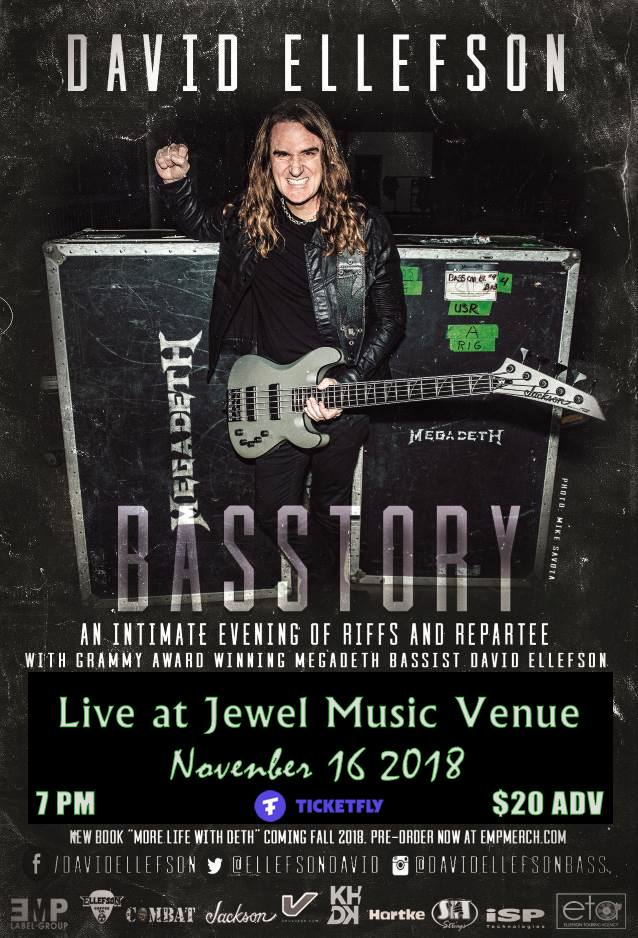 Watch DAVID ELLEFSON And BUMBLEFOOT Perform MEGADETH, BLACK SABBATH, IRON MAIDEN Classics In New Hampshire