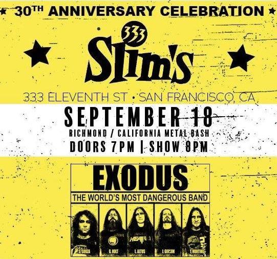 EXODUS Performs Cover Of METALLICA's 'Motorbreath' At San Francisco Concert (Video)