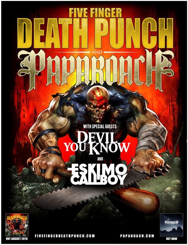 Fivefingerpaparoacheurope2015 Tags Five Finger Punch