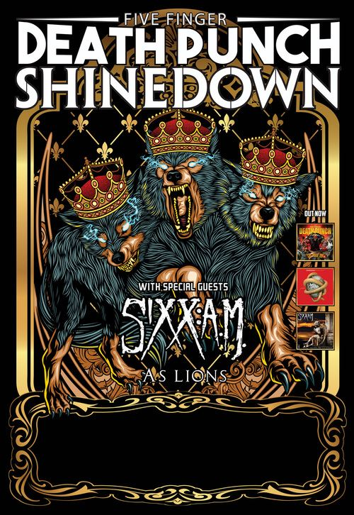 five finger death punch and shinedown announce co headlining tour sixx a m to support. Black Bedroom Furniture Sets. Home Design Ideas