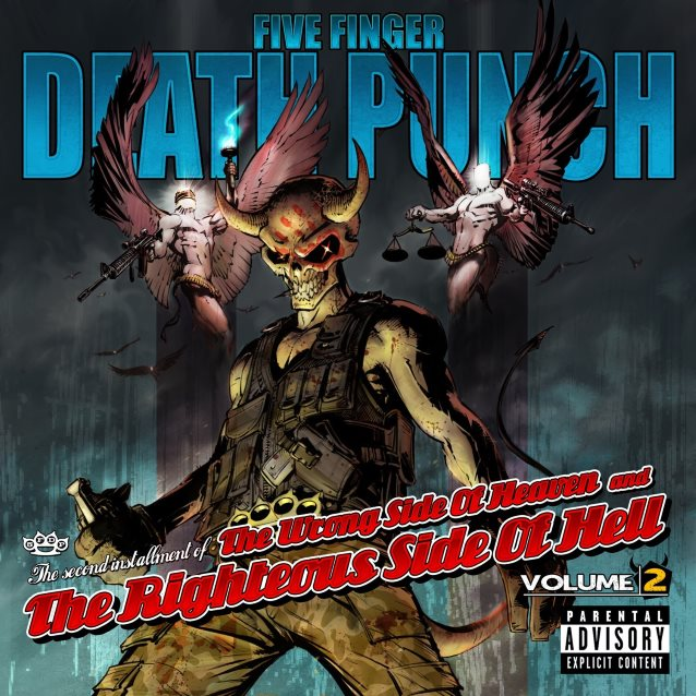 FIVE FINGER DEATH PUNCH's 'The Wrong Side Of Heaven And The Righteous Side Of Hell, Volume 2' Certified Gold