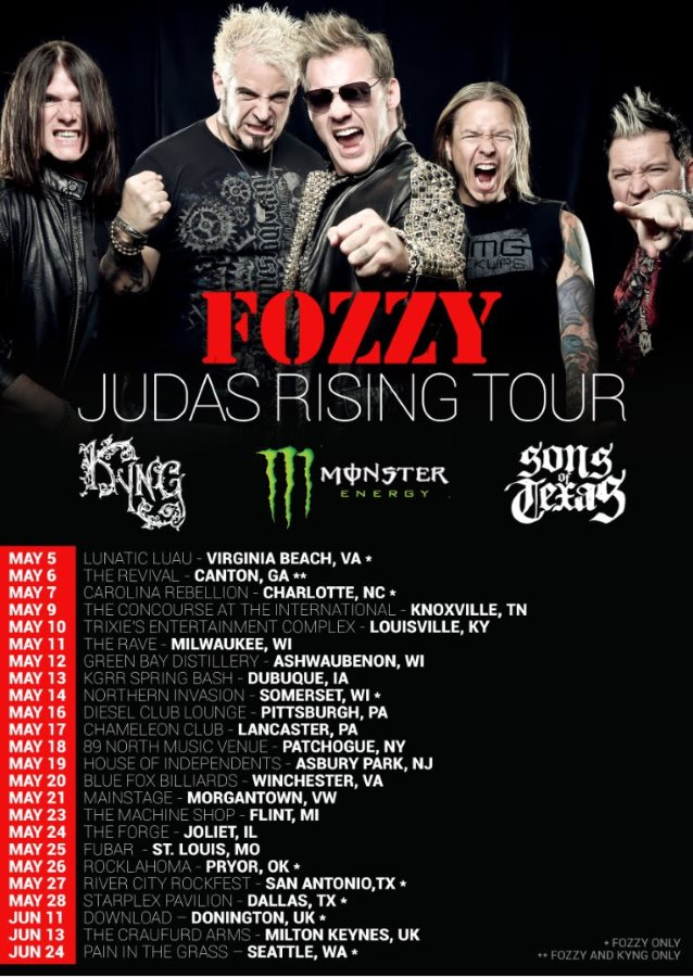 FOZZY Teases Video For New Single 'Judas'