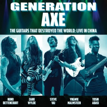 GENERATION AXE: Live Album Feat. VAI, MALMSTEEN, WYLDE, BETTENCOURT, ABASI Available Via PLEDGE MUSIC