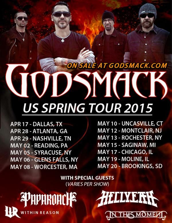godsmack2015springtourposter