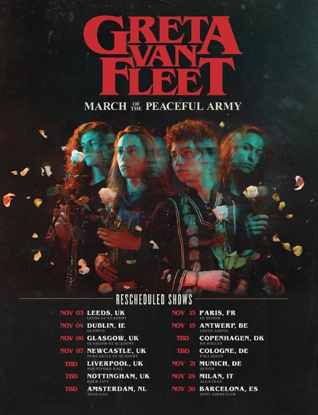 GRETA VAN FLEET Postpones European Tour