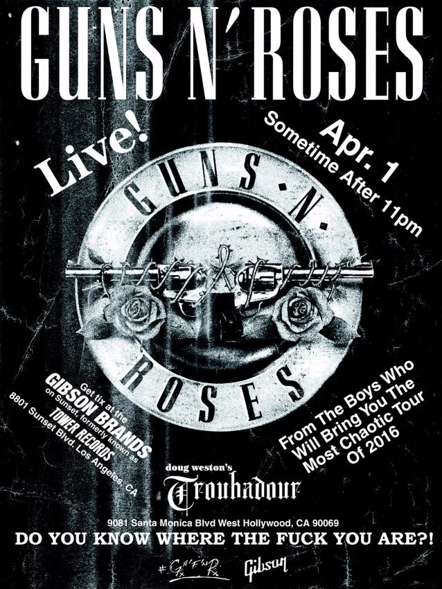 Lyric mr brownstone lyrics : Guns N' Roses Performs At The Troubadour: Video Footage And Photos ...