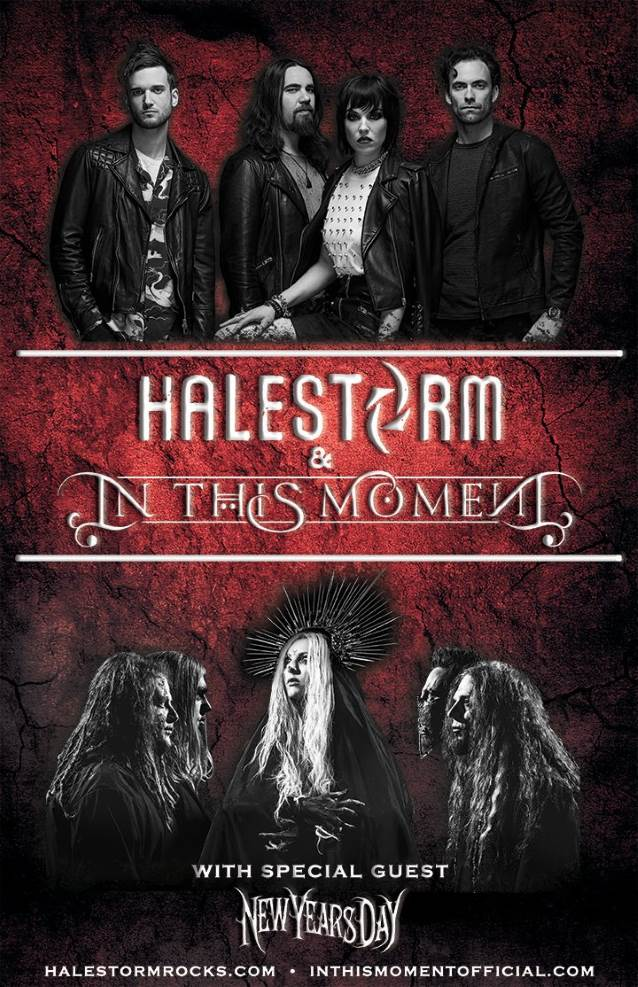 halestorm announces fall 2018 tour dates with in this moment new years day blabbermouth net. Black Bedroom Furniture Sets. Home Design Ideas