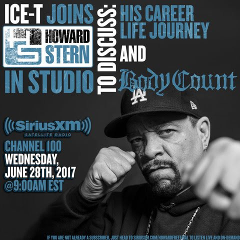 BODY COUNT's ICE-T To Guest On 'The Howard Stern Show' This Wednesday