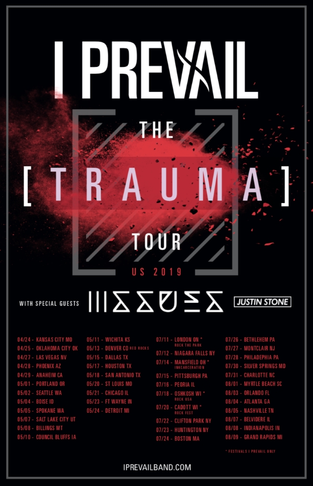 I PREVAIL Announces Spring And Summer 2019 Tour Dates