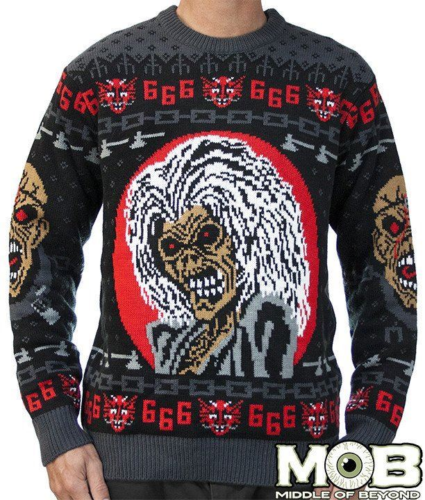 officially licensed iron maiden 39 ugly christmas sweater. Black Bedroom Furniture Sets. Home Design Ideas
