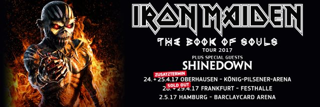 Watch IRON MAIDEN's Second Sold-Out 'The Book Of Souls' Concert In Oberhausen, Germany