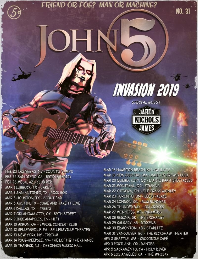 John 5 And The Creatures To Release 'invasion' Album; New North American Tour Dates Announced