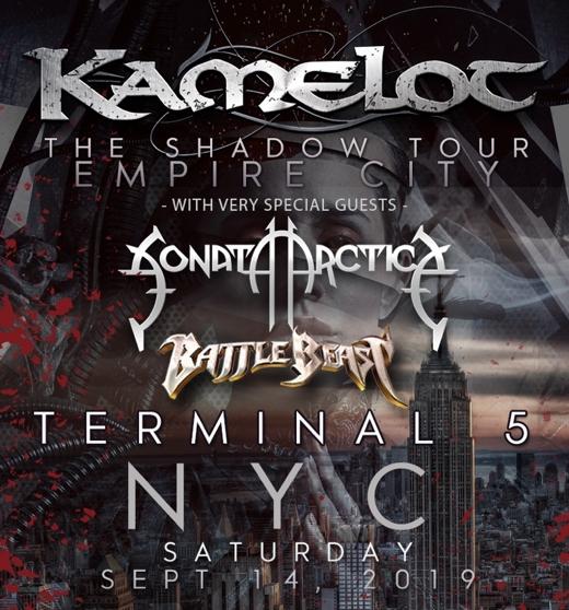 KAMELOT Announces New York City Concert With SONATA ARCTICA And BATTLE BEAST