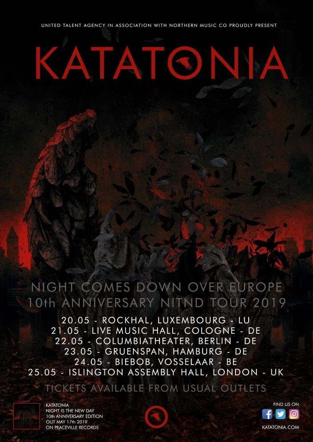 KATATONIA To Celebrate 10th Anniversary Of 'Night Is The New Day' With European Tour, Deluxe Album Reissue