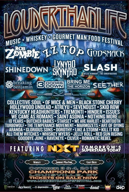 Rob Zombie Zz Top Godsmack Shinedown Slash Confirmed