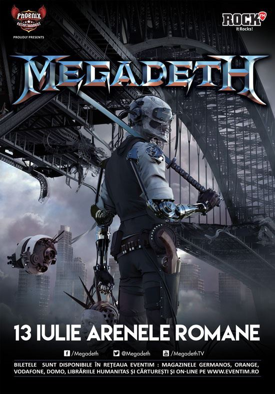 megadethbucharest2016poster