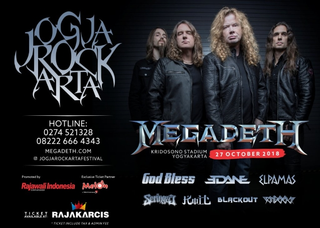 MEGADETH Invites Indonesian President To Attend Concert