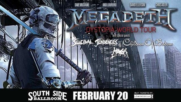 megadethsouthsidedallas2016poster