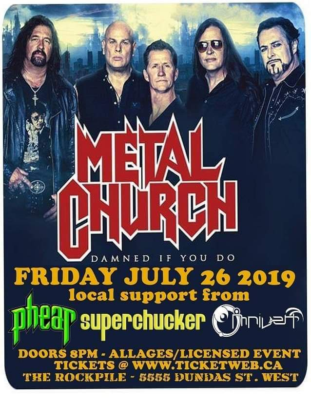 METAL CHURCH Cancels Shows In Toronto, Montreal Due To 'Family Health Issues'