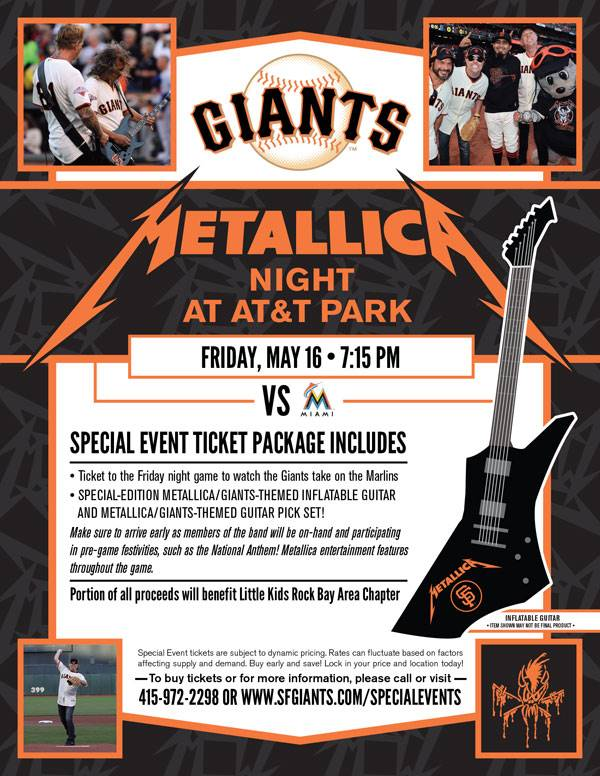 james hetfield talks about second annual 39 metallica night 39 at at t park video. Black Bedroom Furniture Sets. Home Design Ideas