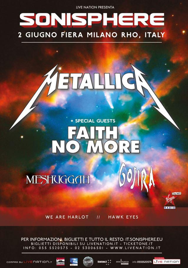 metallicasonisphereitalyposter2015