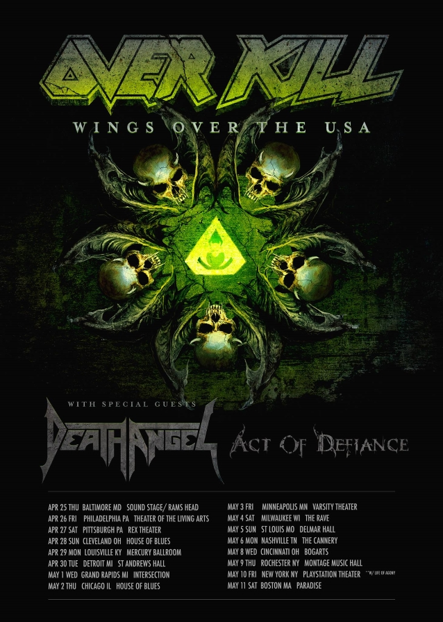 Image result for overkill tour 2019