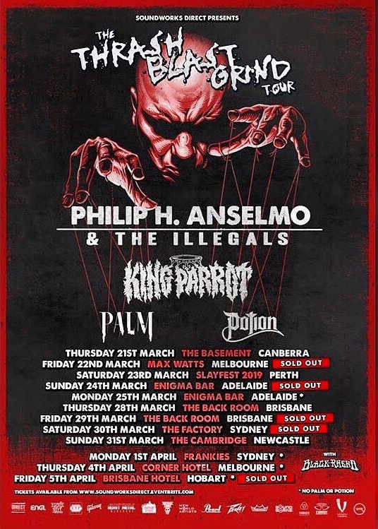 Watch PHILIP ANSELMO Perform PANTERA Classics In Canberra