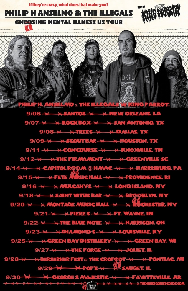 PHILIP H. ANSELMO & THE ILLEGALS: Pro-Shot Footage Of U.S. Tour Kick-Off