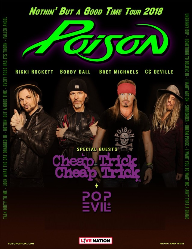 POISON Kicks Off 'Nothin' But A Good Time 2018' Tour In Irvine (Video)