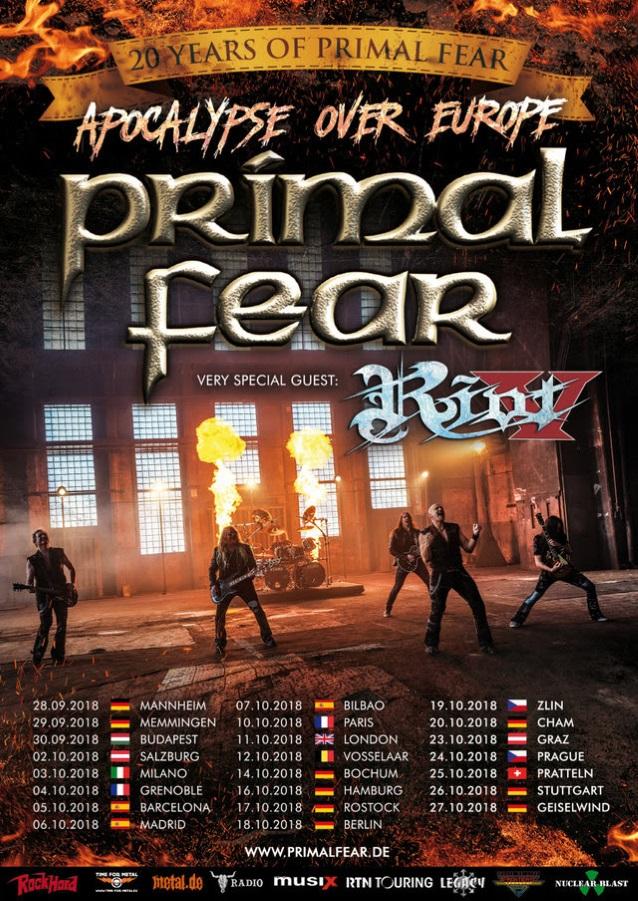 PRIMAL FEAR - Apocalypse (10 aout 2018) Primalfearriottour2018poster